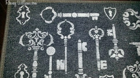 doormat design closeup