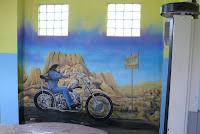 Artystyczne malowanie ściany Harley Devidson Warszawa