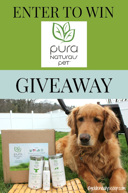 pura naturals pet organic dog products giveaway