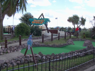 Adventure Golf Course at the Pleasure Beach Gardens in Great Yarmouth