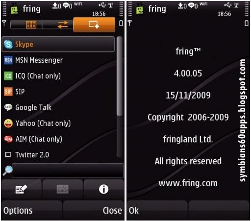 symbian fring video