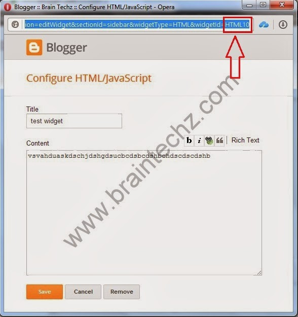 How To Get Blogger Widget ID