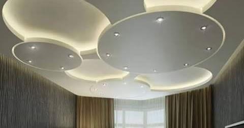 Faux plafond en plâtre pour une salon très moderne platre