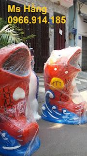 Thùng rác hình con vật, thùng rác công cộng trang trí
