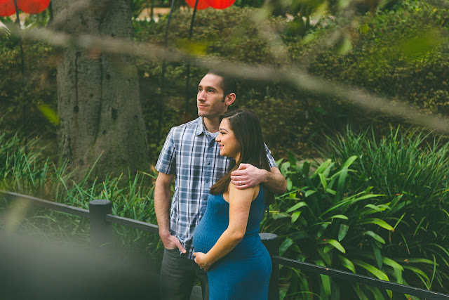 Nathalie and Joe's maternity photo session at Descano Gardens in La Cañada Flintridge, CA