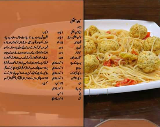 How To Make KOFTA SPAGHETTI Recipe Urdu/English