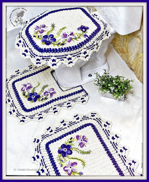 As Receitas de Crochê JOGO DE BANHEIRO DE CROCHÊ COM GRÁFICO -> Jogo De Banheiro Simples Em Croche Com Grafico