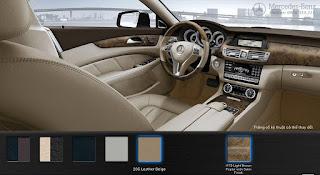 Nội thất Mercedes CLS 350 2015 màu Vàng Beige Leather 205