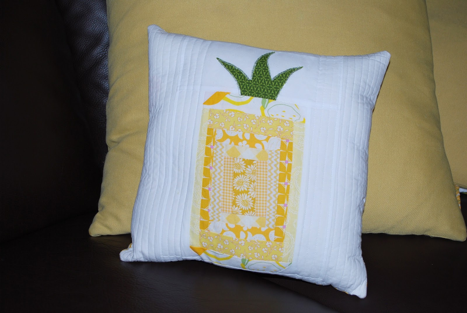 scrap fabric project pineapple pillow