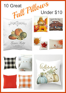 Vintage, Paint and more... a list of fall pillows found on Amazon for under $10 each