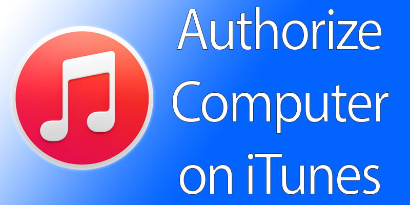 authorize a computer on itunes