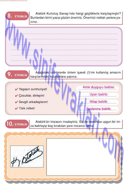 Doku Yayınları 4. Sınıf Türkçe Çalışma Kitabı Cevapları Sayfa 48