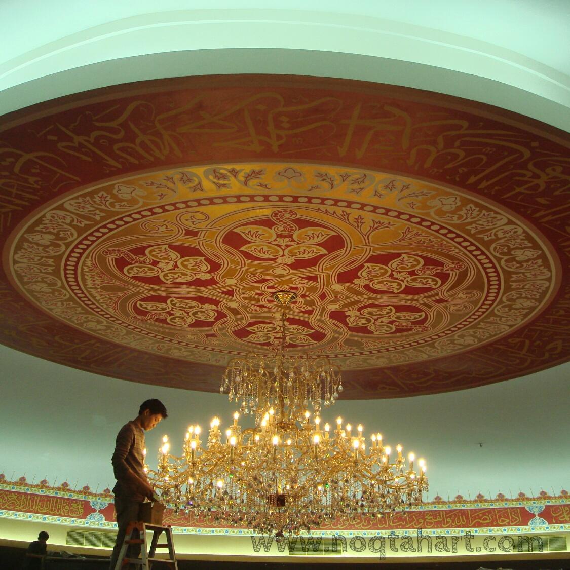 dekorasi kaligrafi  drop ceiling