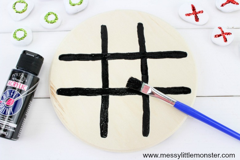 handmade gifts for kids - tic tac toe game
