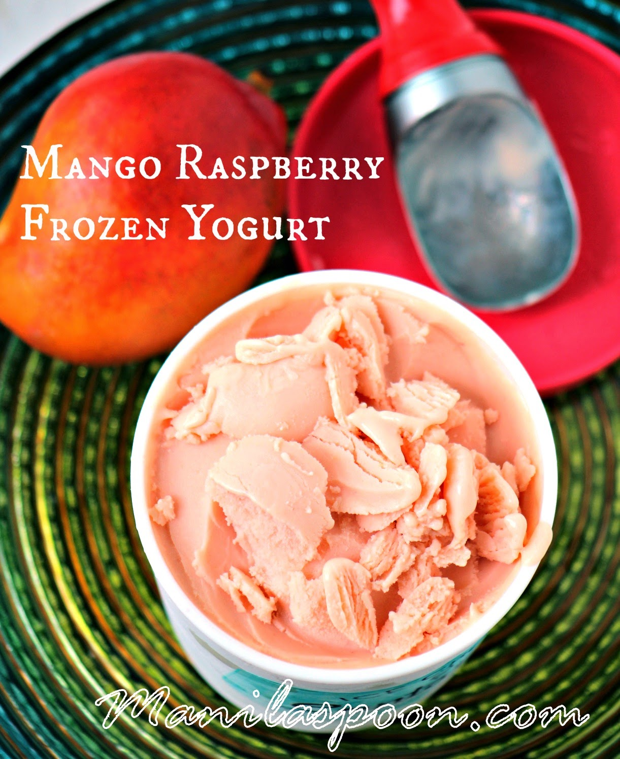 Mango Raspberry Frozen Yogurt