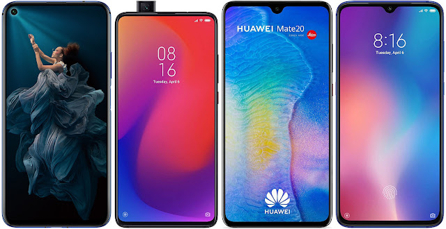 Honor 20 vs Xiaomi Mi 9T Pro vs Huawei Mate 20 vs Xiaomi Mi 9