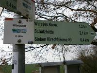 Standardwegzeiger für örtliche Rundwanderwege als Teil des Beschilderungskonzepts Schwäbische Alb
