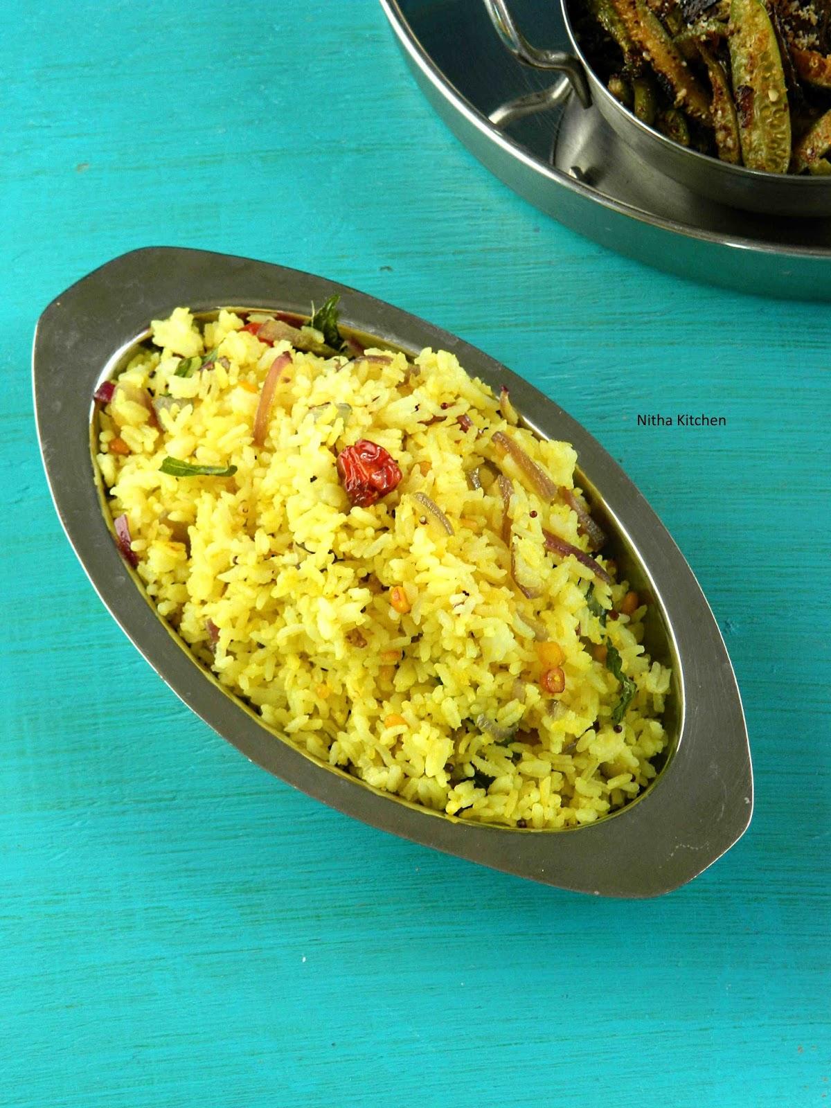 Simple and Quick Variety Rice | Chumma Varutha Sadham | Vegan One ...