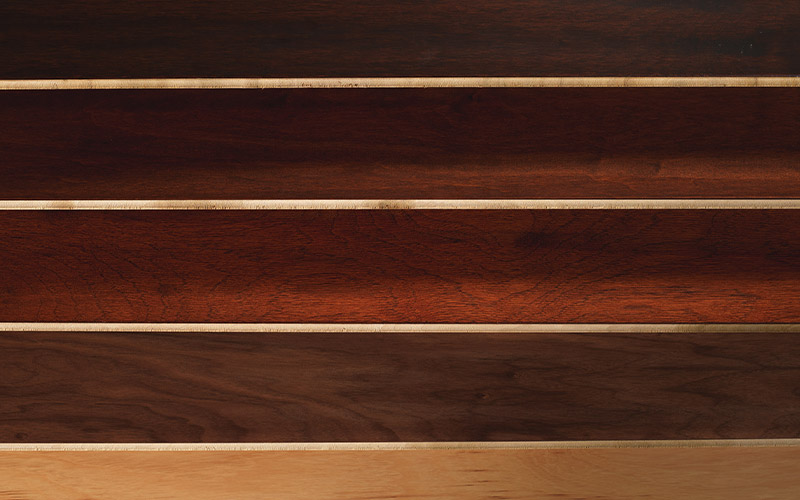 Hardwoods come a wide range of shades from very dark to very light