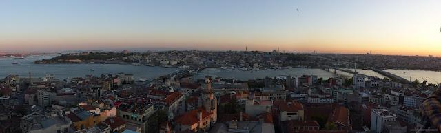 Výhľad na Istanbul z Galatskej veže, Turecko