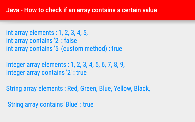 android Java - How to check if an array contains a certain value