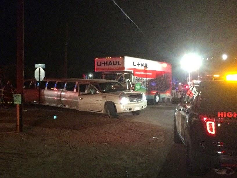 reedley limousine u-haul collision lincoln avenue englehart 12 hurt fresno county