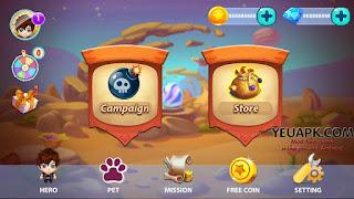 Bomber Legend v1.3 mod vàng & kim cương (gold diamonds) cho Android