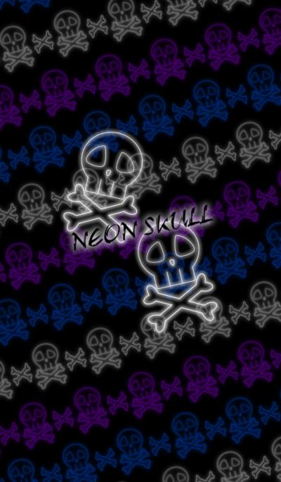 SKULL -Neon style-