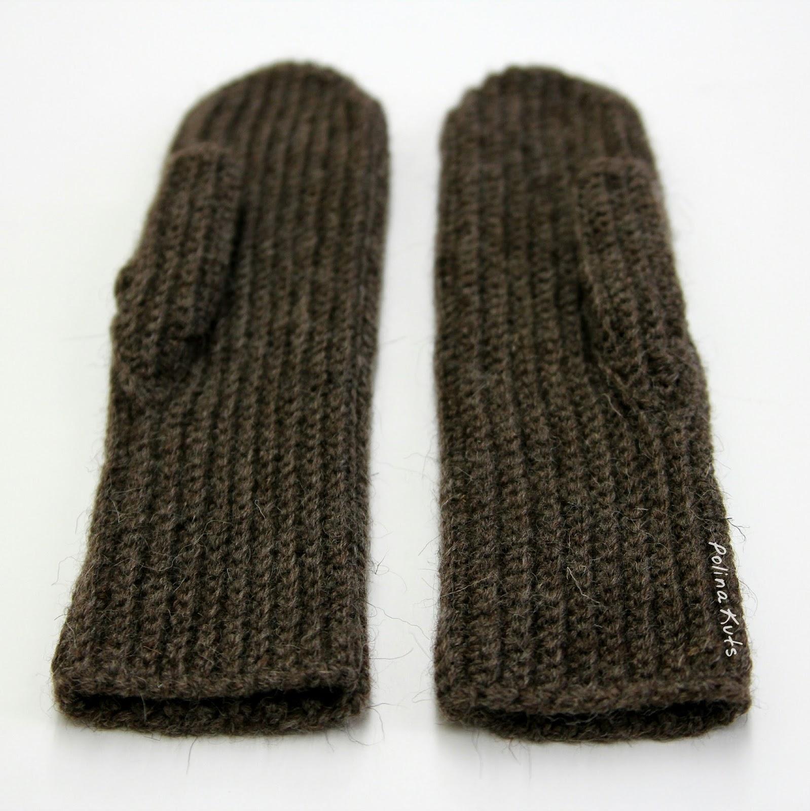 схема вязания кармана варежки