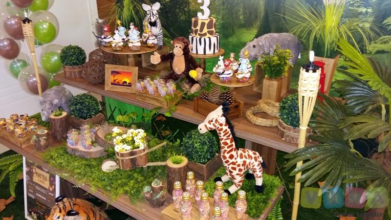 Decoraç u00e3o Safári Porto Alegre -> Decoração Festa Infantil Zoologico