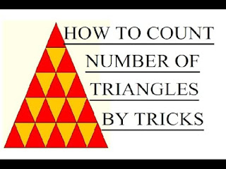 HOW TO COUNT NUMBER OF TRIANGLES IN FIGURE BY TRICKS