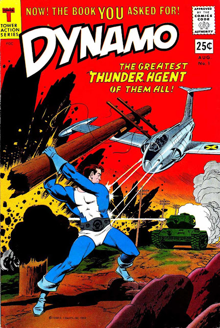 Dynamo v1 #1 tower 1960s silver age comic book cover art by Wally Wood