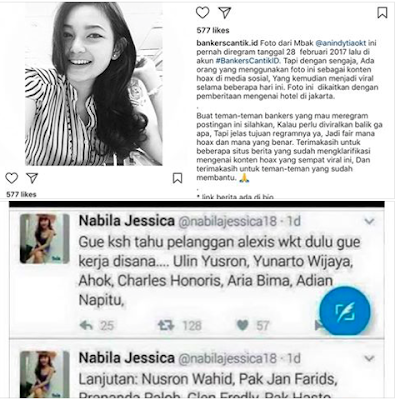 Penjelasan.... Beredar Gambar screenshot akun twitter dari NAbilla Jessica Basuki