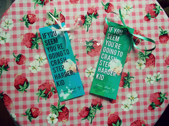 Quote BTS Never Mind bookmark