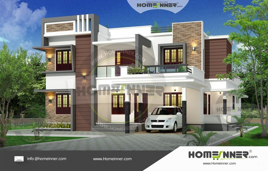 488 Sq Ft 48BHK Contemporary Home Exterior Impressive Modern Home Exteriors Plans