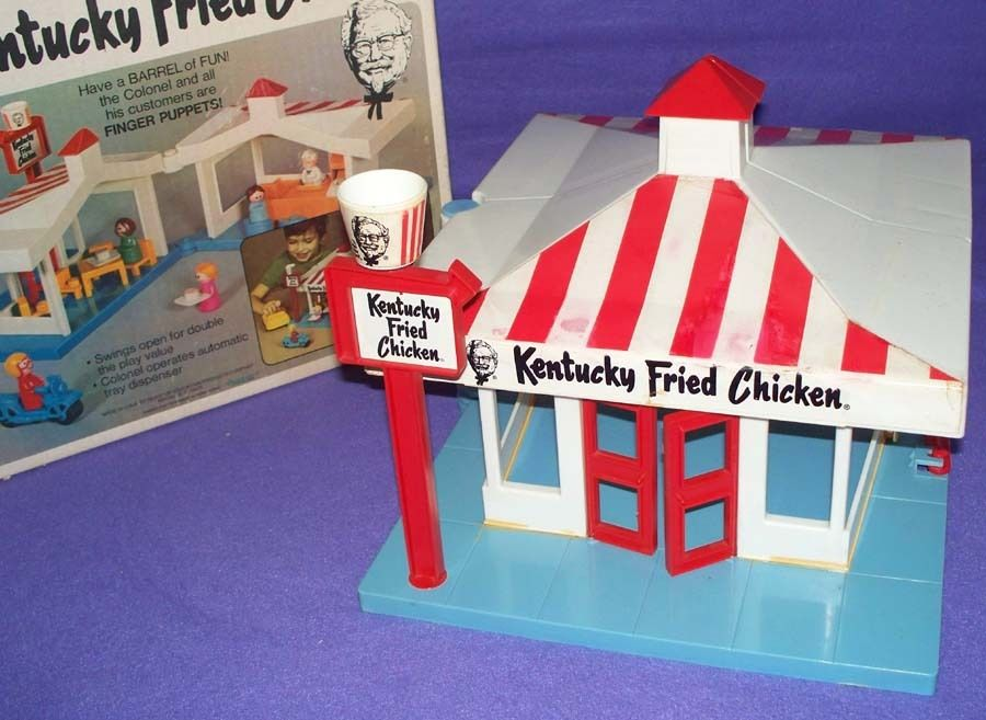 Funny Kentucky Fried Chicken: Kentucky Fried Chicken Play Set Toys: KFC Plastic Fun