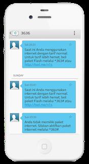 Cara menyetop sms dari 3636 Telkomsel Yang Menyedot pulsa