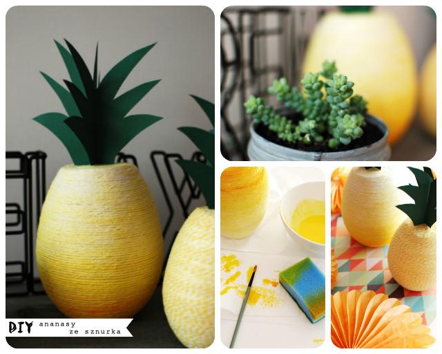 DIY – ananasy ze sznurka