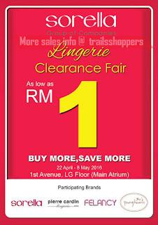 Sorella Penang Lingerie Clearance Fairs