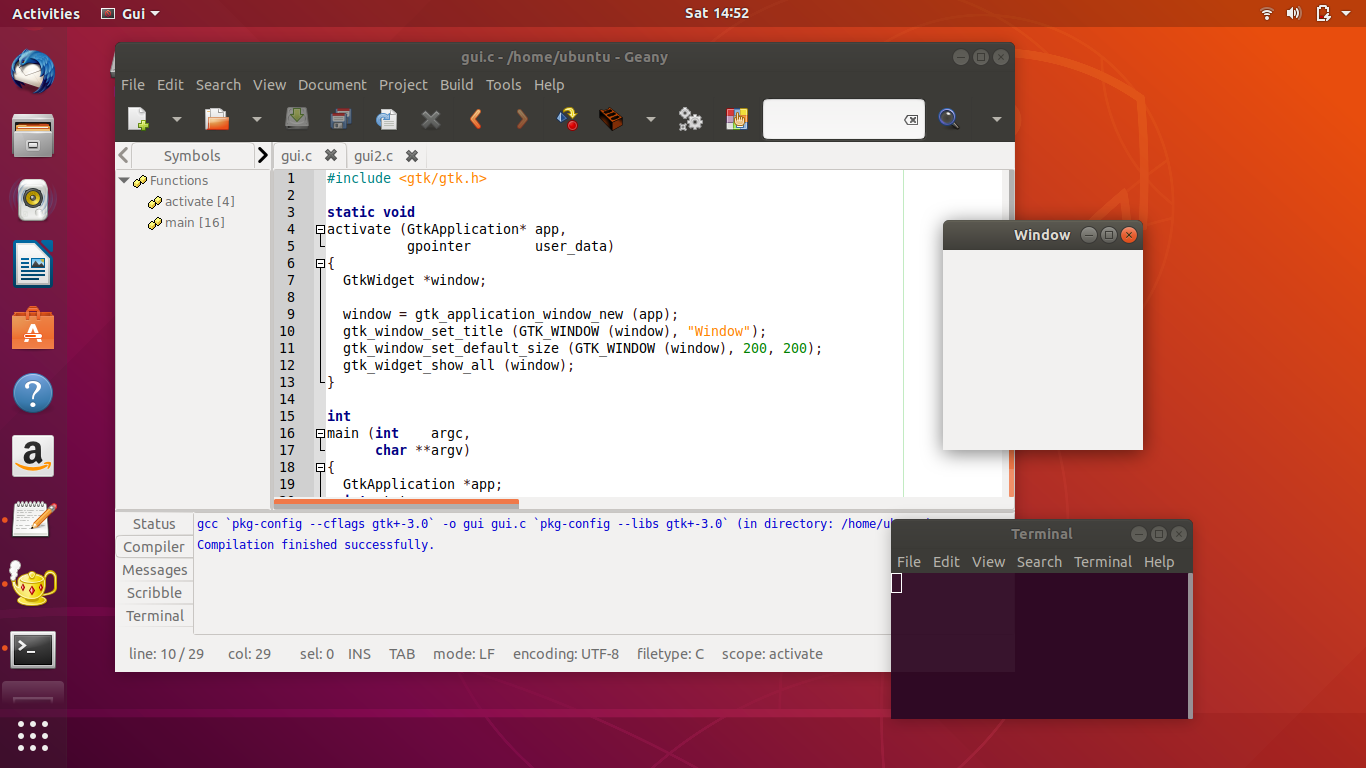 Setup C/GTK+ Programming Tools on Ubuntu for Beginners