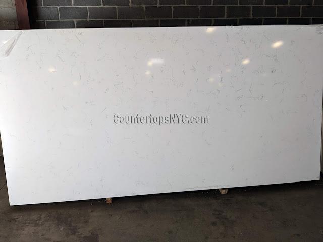 White quartz countertops kitchen NYC