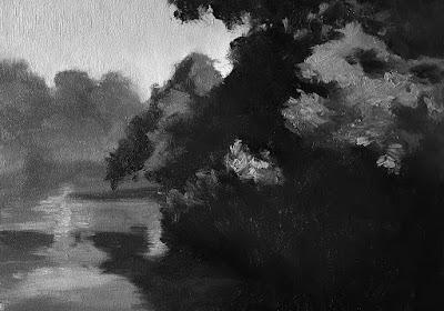 lost edge study in melding dark values landscape Feb-18-2019 grey