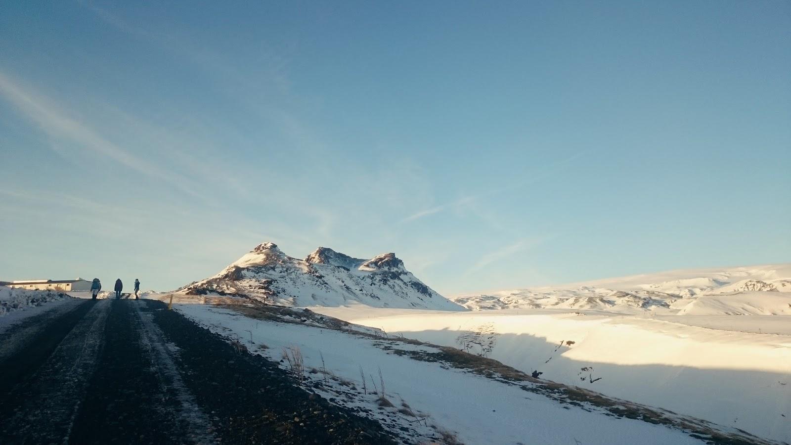 islandzka zima, zima w Islandii, Islandia, islandzki krajobraz