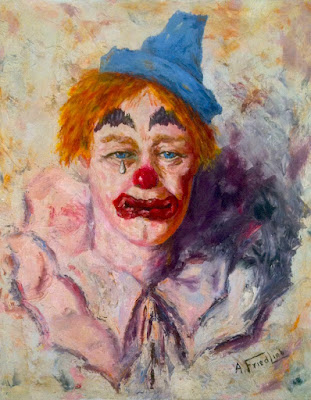 1968+SAD+CLOWN+Kitsch+Tacky+Bad+Art+Vintage+1960s+Salvation+Army+A.+FRIEDLIB+Painting.jpg (1064×1368)