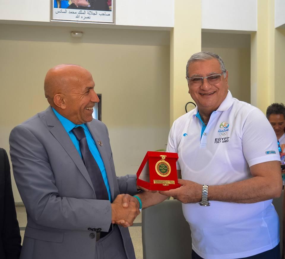 المجلس الإقليمي لتارودانت يستضيف ويرحب برئيس الجامعة الملكية المغربية و بمسؤولين عالميين في رياضة التيكواندو