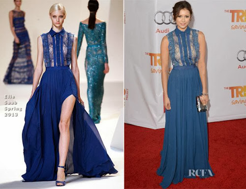 bf72f3dd1 Nina Dobrev in Elie Saab at The Trevor Project s  TrevorLIVE LA  Event  Honouring Jane Lynch