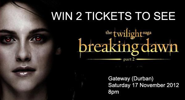 WIN 2 Tickets to TWILIGHT Breaking Dawn Part 2