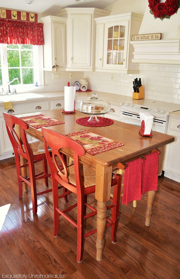 Kitchen table island