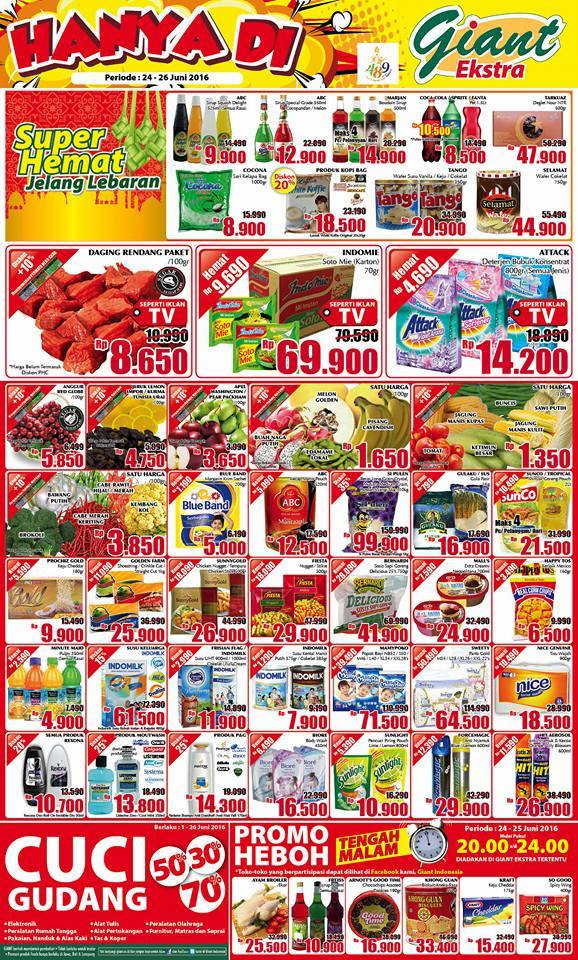 Daftar Harga Promo Giant Ekstra Periode 24 26 Juni 2016 Katalog Promo Menarik
