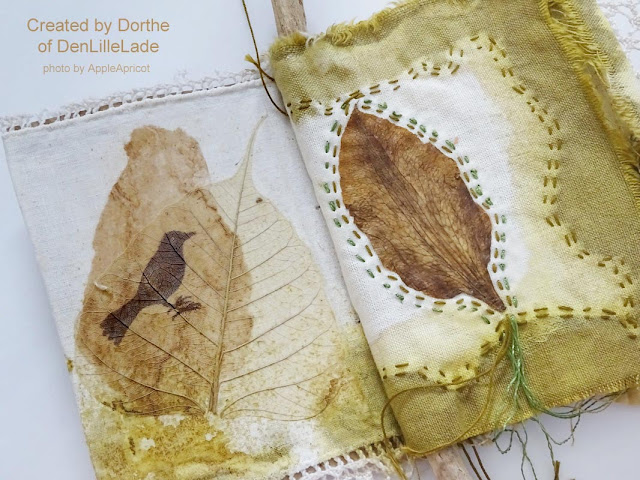 mixed media art book by Dorthe of DenLilleLade